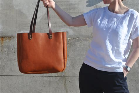 Leather Carrier Bag For The Who Has Everything by Italian Leather Tote Bag Leather Laptop Bag Italian Leather