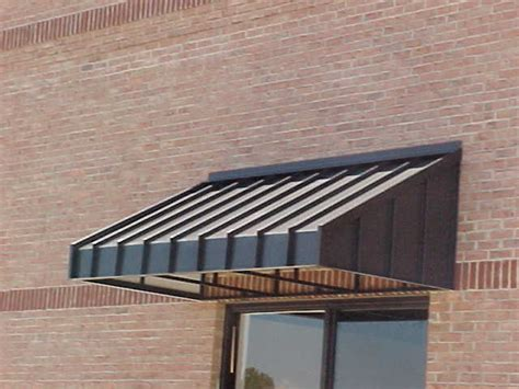 Houston Awnings Spurlin Signs Sherwin Williams Standing Seam Metal Awning