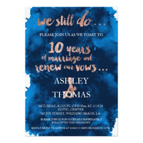 10 Year Anniversary Invitations Announcements Zazzle 10 Year Anniversary Invitation Templates