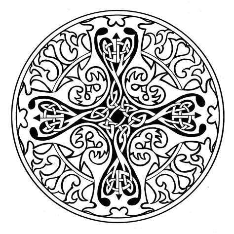 cross mandala coloring pages pin celtic mandala coloring pages on