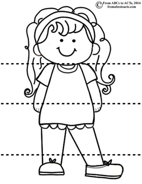 free coloring pages of head shoulders knees toes