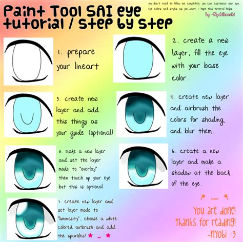 draw anime paint tool sai tutorial paint tool sai eye tutorial by nyobikocchi on deviantart
