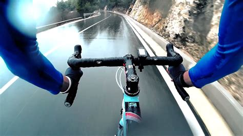 road bike rain extreme road bike descent downhill in the rain youtube