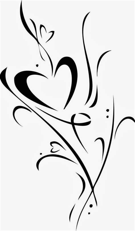 heart with vines tattoo design vine design clip to cut files