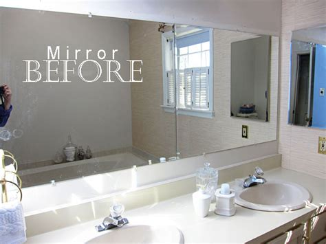 Framing Bathroom Mirror With Molding » Home Design