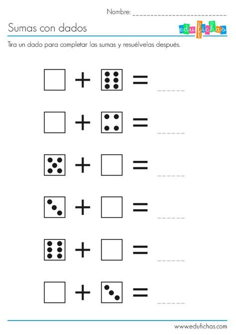 imagenes de actividades matematicas actividades de sumas con dados http www edufichas com