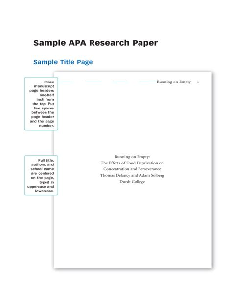 9 apa paper cover page coaching resume