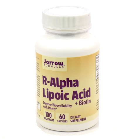 R Lipoic Acid For Detox by R Alpha Lipoic Acid By Jarrow 60 Capsules