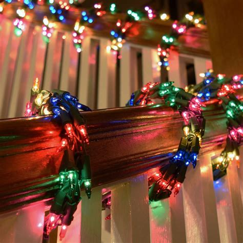 black colored christmas lights 600 multi color cluster garland light set green wire