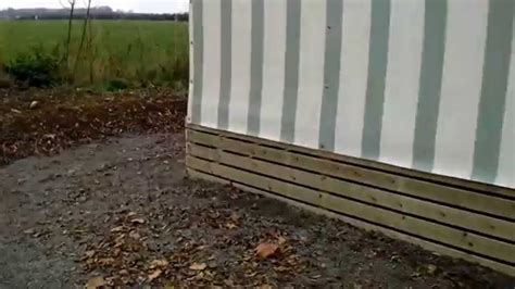 mobile home wooden skirting