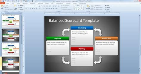 Free Balanced Scorecard Powerpoint Template Balanced Scorecard Ppt Template