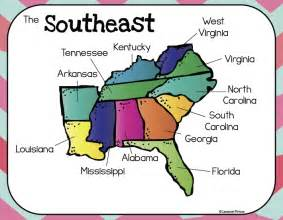 united states map southeast region social studies ms salazar s class