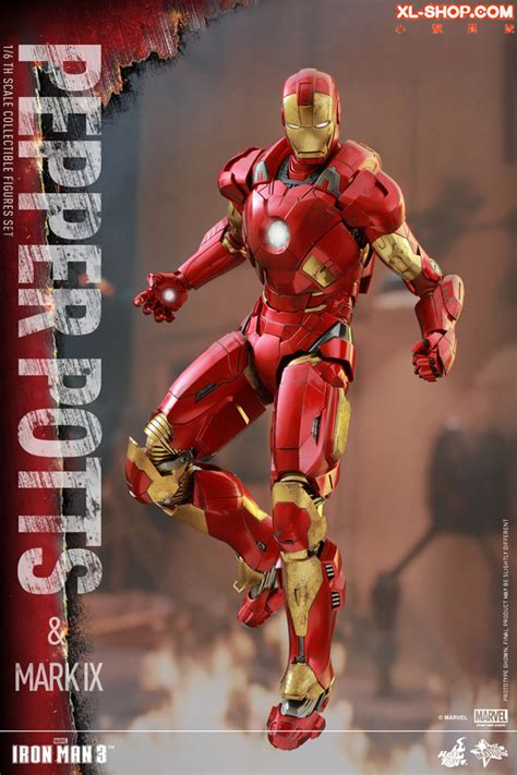 toys mms311 iron 3 1 6th scale pepper potts ix collectible figures set