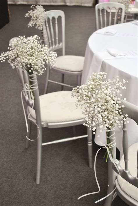 Chair Decorations by Pink And White Wedding Flowers Heaton House Farm