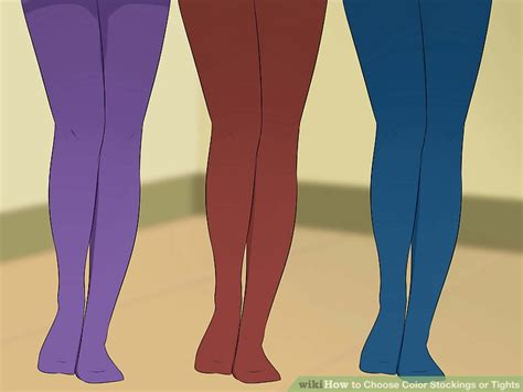 color tights 3 ways to choose color or tights wikihow