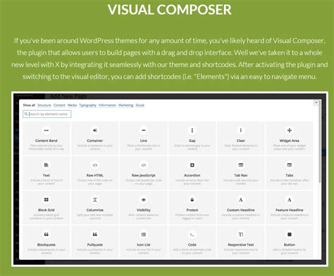 themes wordpress visual composer x the all in one wordpress theme you need