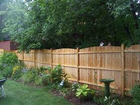 backyard fence formal landscape small yard landscaping ideas between