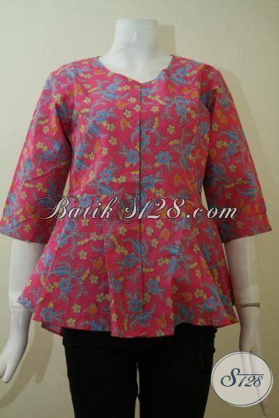 Baju Gamis Warna Merah Jambu baju batik keren warna merah jambu til modis dan feminim blus batik resmi pas buat kerja