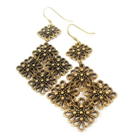 vintage lace statement earrings by
