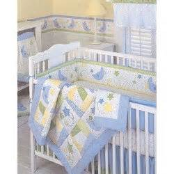 moon and 9 baby crib bedding set