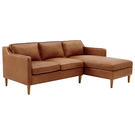 West Elm Leather Sectional by Buy West Elm Hamilton Leather Sectional Left Loveseat Rhf
