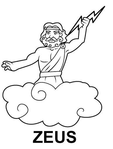 imagenes de el dios zeus para dibujar colorear dibujos de zeus
