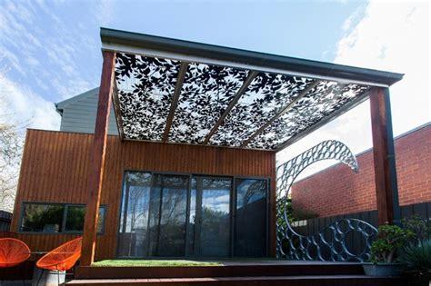 Cut Concrete Patio Laser Cut Metal Pergolas Eclectic Patio Melbourne