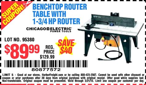 Router Table Harbor Freight by Harbor Freight Tools Coupon Database Free Coupons 25