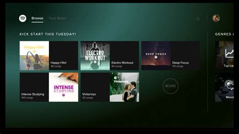 how to play from android to tv spotify for android tv android apps on play