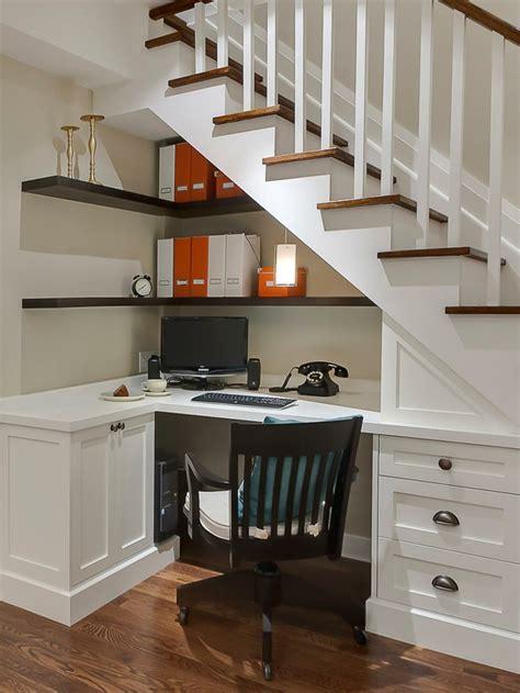 meuble sous bureau am 233 nagement sous escalier propositions originales