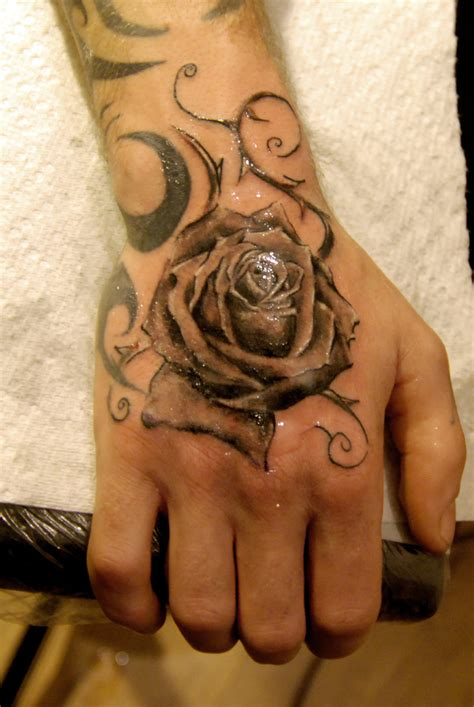 rose tattoo by leroyseb on deviantart