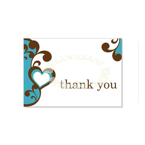 Thank You Card Template by Wedding Thank You Card Template Wedding Thank You Card