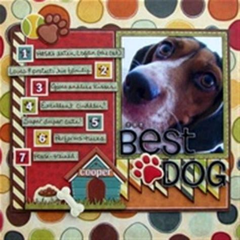 scrapbook layout ideas for pets dog scrapbook page scrapbook pages pinterest