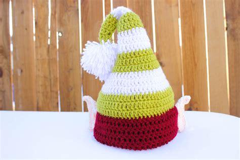 free pattern elf hat santa s helper free crochet elf hat pattern with ears
