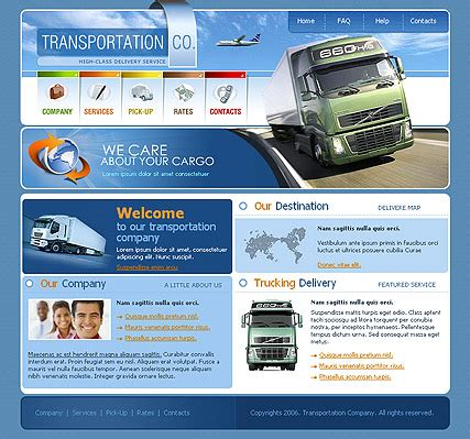 transportation templates car templates website templates