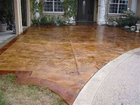Stamped Concrete Over Existing Patio by Stamped And Acid Stain Concrete Resurfacing