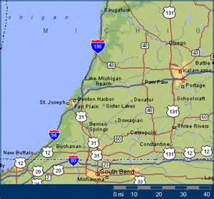 Map Of Southwest Michigan by The Area Maps For Southwest Michigan The Southwest
