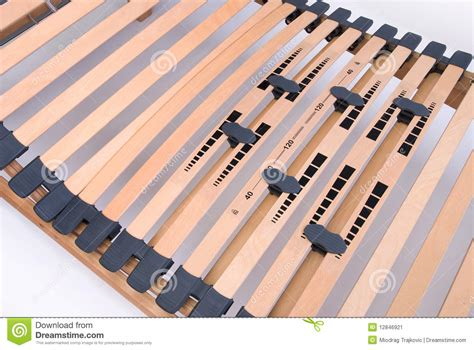 Reinforce Bed Frame Latoflex Birch Wood Slats Stock Image Image 12846921