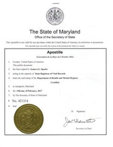State Of Maryland Records Arizona Apostille Arizona Apostille Certificate Is A Seal That Will Make Your Arizona