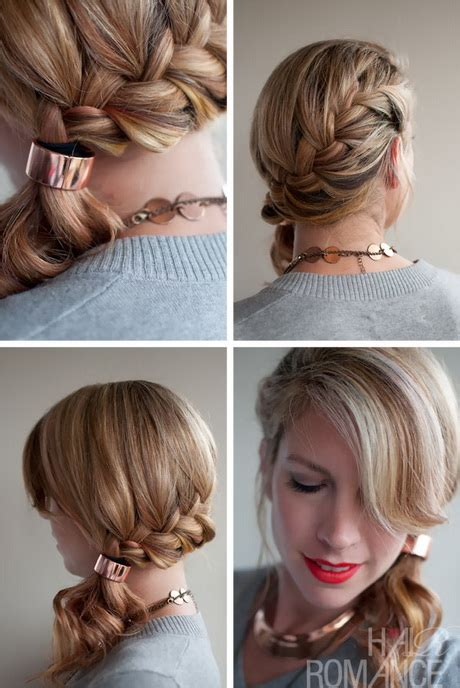 hairstyles braids to the side french braid hairstyles for short hair