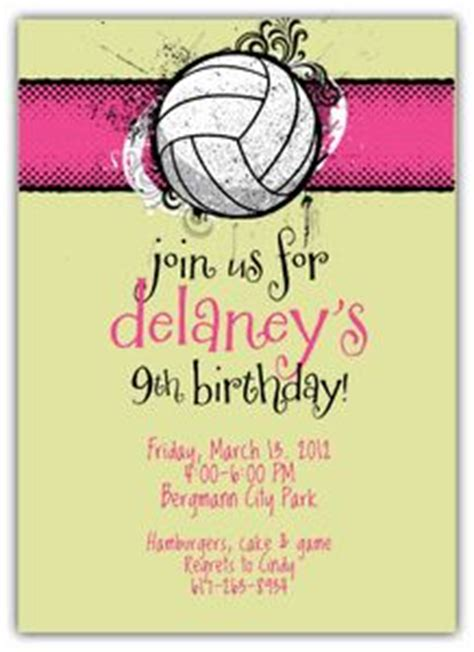 free printable volleyball birthday cards volleyball party on pinterest volleyball team gifts