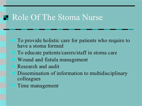 how to care for a stoma modules caring for the stoma patient