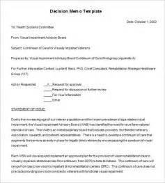 decision memo template 8 decision memo templates free word pdf documents