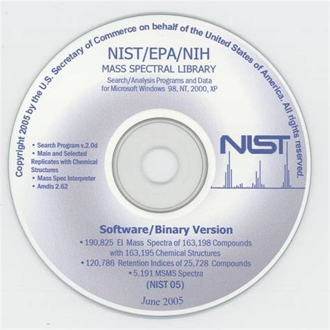 nistepanih mass spectral library  search software