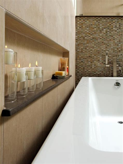 bathroom wall niche contemporary bathtub surrounded by onyx and marble hgtv