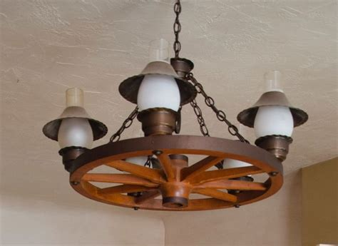 Wagon Wheel Light Fixture Vintage Wagon Wheel Chandelier
