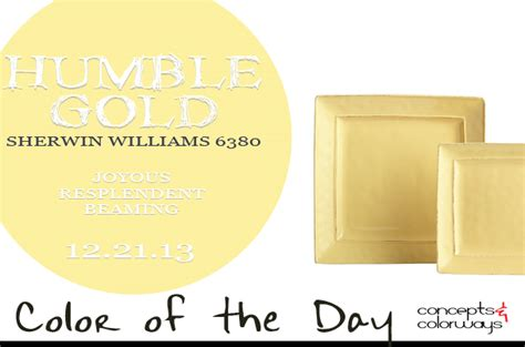 color of the day humble gold concepts and colorways