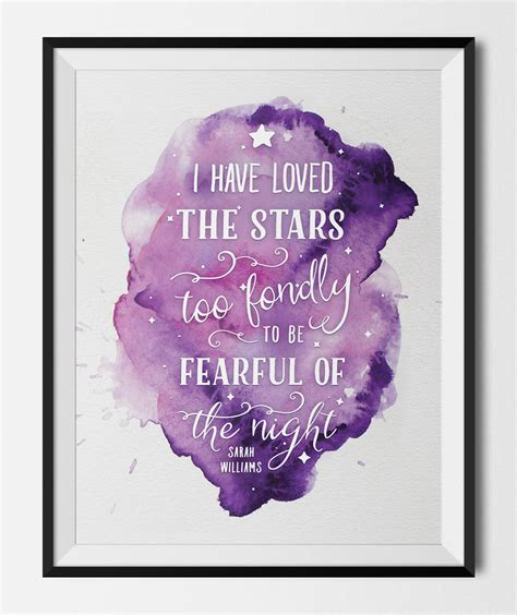 printable quotes wall art printable art print loved the stars quote by sarah williams