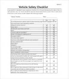 vehicle checklist templates 10 free pdf documents