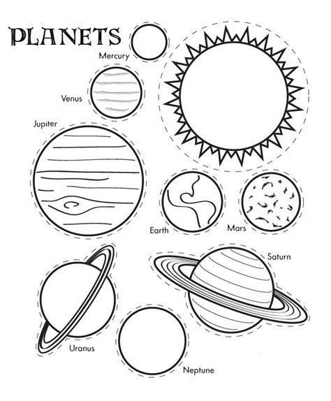 Galerry printable coloring pages of planets